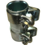 2x Auspuff Rohrverbinder Rohrschelle für Auspuffanlage Ø37x95mm