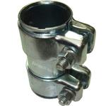 2x Auspuff Rohrverbinder Rohrschelle für Auspuffanlage Ø37x90mm