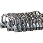 2x Stück Auspuff Schelle von jedem verfügbarem Durchmesser Rohrschelle