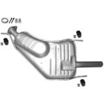 Opel Vectra B Kit Endschalldämpfer Endtopf Auspuff