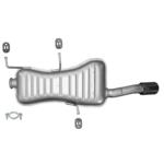 Peugeot 306 1,8 2,0 16V Cabrio Endschalldämpfer Auspuff Anbausatz