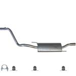 VW Golf 3 mit Anbausatz Auspuff Endschalldämpfer