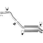 VW Transporter 4 T4 2.5 TDi Endschalldämpfer Endtopf Auspuff Anbausatz