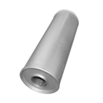 Universal Schalldämpfer 135x400 Ø 47mm Auspuff Auspuffanlage Rund
