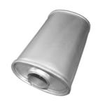 Universal Schalldämpfer 130x95x240 Ø 50mm Auspuff Auspuffanlage Oval