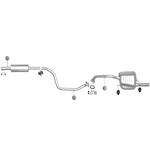 Mazda 5 1,8 2,0 CR19 Mitteltopf Endtopf Auspuff Auspuffanlage Anbaukit