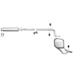 Volvo V70 Kombi 2.4i Mittel End Schalldämpfer Auspuff Anlage