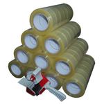 60 Rollen a 150m Klebeband Packband Packetklebeband mit Abroller