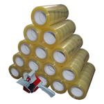90 Rollen a 150m Klebeband Packband Packetband mit Abroller