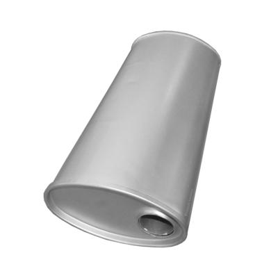 Universal Schalldämpfer 210x110x450 Ø 45mm Auspuff Auspuffanlage Oval