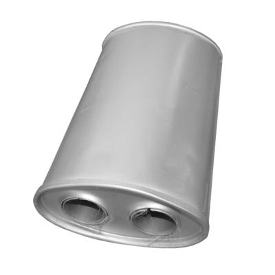 Universal Schalldämpfer 220x120x330 Ø 50mm Auspuff Auspuffanlage Oval