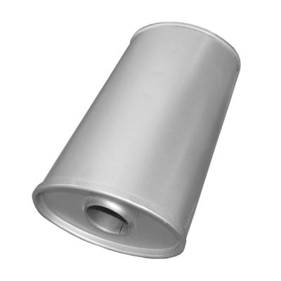 Universal Schalldämpfer 195x130x330 Ø 50mm Auspuff Auspuffanlage Oval
