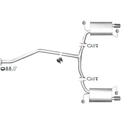 Endschalldämpfer Auspuff hinten Rohr Opel Frontera A
