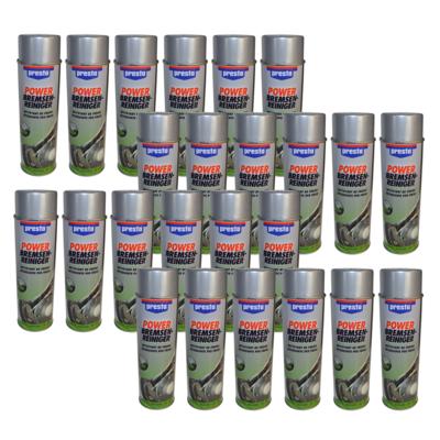 24x 500ml Presto Power Bremsenreiniger Bremsenspray Entfetter Spray