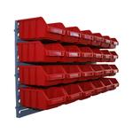 Sichtlagerbox Halterung Wandhalterung für Sichtlagerkästen Lagerbox Stapelbox N9