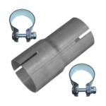 Rohr Reduzierstück 40mm auf 45mm Auspuff Adapter Bandstahl Schellen