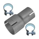 Rohr Reduzierstück 40mm auf 50mm Auspuff Adapter Bandstahl Schellen