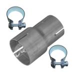 Rohr Reduzierstück 45mm auf 55mm Auspuff Adapter Bandstahl Schellen