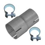 Rohr Reduzierstück 50mm auf 55mm Auspuff Adapter Bandstahl Schellen