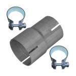 Rohr Reduzierstück 55mm auf 60mm Auspuff Adapter Bandstahl Schellen
