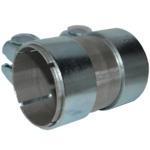 55x100 Rohr Reparaturrohr Rohrverbinder Auspuff mit Bandstahl Schellen