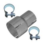 Rohr Reduzierstück 55mm auf 70mm Auspuff Adapter Bandstahl Schellen