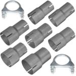 Rohr Reduzierstück von 40mm bis 76mm Auspuff Adapter inkl. 2 Schellen