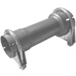 200mm Rohr Reduzierstück 45mm auf 60mm Auspuff Adapter inkl 2 Schellen