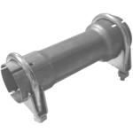 200mm Rohr Reduzierstück 55mm auf 65mm Auspuff Adapter inkl 2 Schellen