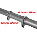 Ø 76x200mm Universal Reparaturrohr Rohr mit Aufweitung Auspuff Schelle