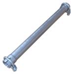 43x500mm Universal Reparaturrohr Rohr mit Aufweitung Auspuff Schelle