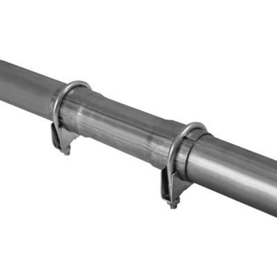 Reparaturrohr Auspuff gebogen Z-Rohr Ø 44 mm 90°60°45°30°16° universal 2 Meter